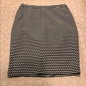 Black and White Merona Pencil Skirt